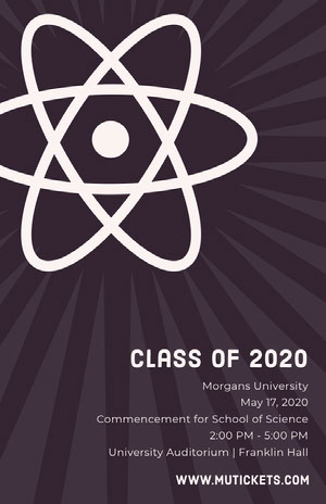 Science University Graduation Poster with Atom Graduation Poster