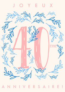 fortieth birthday cards Carte d'anniversaire