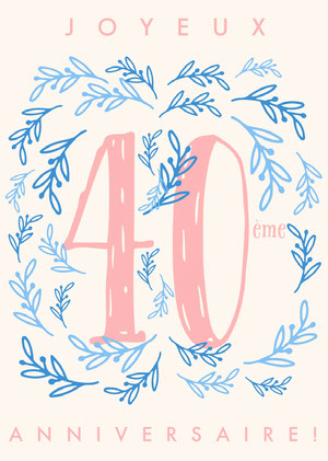 fortieth birthday cards Invitation d'anniversaire
