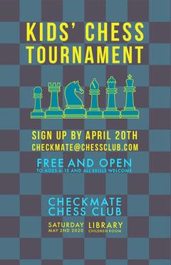 Kids chess tournament poster Kids