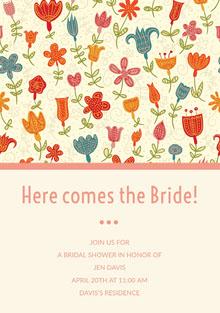 Here comes the Bride!  Invitación de boda