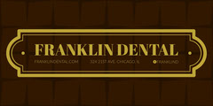 Gold and Black Dentist LinkedIn Banner Gold