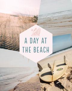 Beach Day Collage Instagram Portrait  Beach