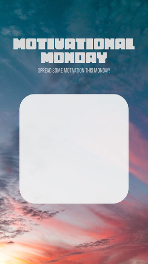 Sunset Clouds Photo Blank Motivational Interactive Instagram Story Motiverende poster