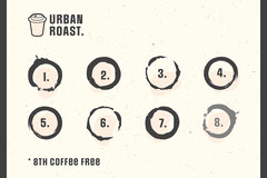 Cream and Grey Urban Roast Coffee Loyalty Card Deal