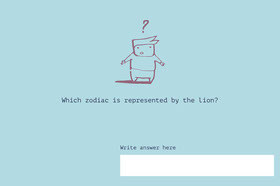 Which zodiac is represented by the lion?