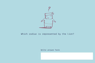 Which zodiac is represented by the lion? Cartão educativo