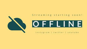 Yellow and Green Offline Banner Banneri