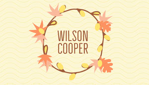 Yellow Autumn Wreath Thanksgiving Dinner Place Card Tarjetas para mesas de invitados