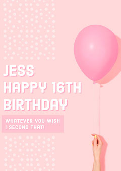 birthday card for woman Balloon