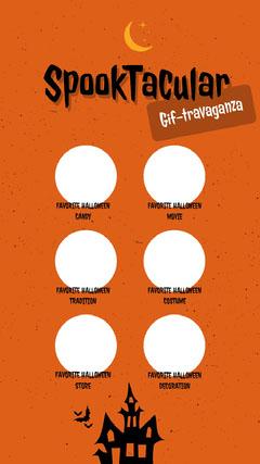 Orange and Black Halloween Quiz Instagram Story Quiz Night Poster