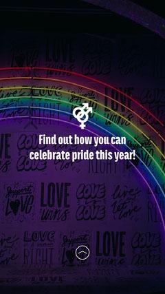 Neon Lights Pride IG Story Neon