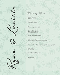 Wedding Menu IG portrait Flowers