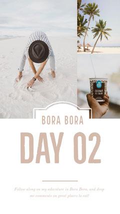White, Light, Bright Bora Bora Travel Collage Instagram Story Ice Cream Social Flyer