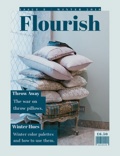 Blue and White Interior Decoration Magazine Cover Decor