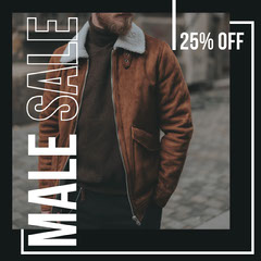 Male Sale Instagram Square Sale Flyer
