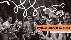 white orange black business conference networking YouTube thumbnail  Career Poster