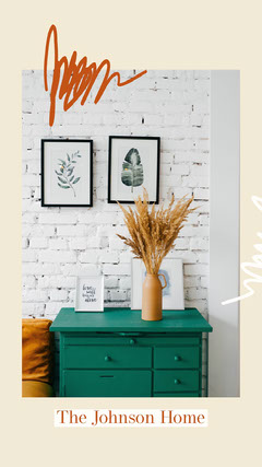 Interior Design Instagram Story with Room Photo Decor