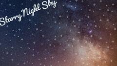Starry Night Sky Zoom Background Sky