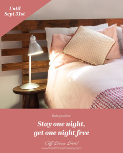 Pink Bed Hotel Staycation Offer - Instagram Portrait Deal