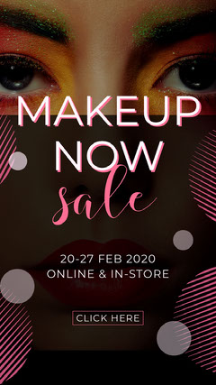 Feminine Makeup Product Store Sale Ad Instagram Story Makeup