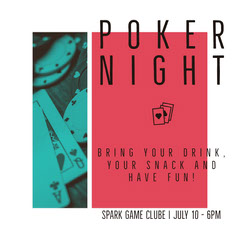 POKER NIGHT Game Night Flyer