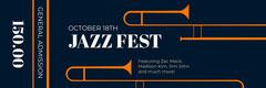 Orange White and Black Jazz Festival Jazz