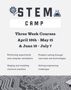 White and Dark Blue Stem Camp Ad Instagram Portrait Camping