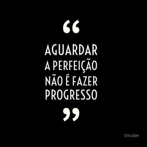 Aguardar a perfeição não é fazer progresso Pôster motivacional
