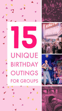 Pink With Photos Birthday Party Advertisement d'anniversaire