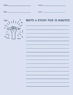 Story writing worksheet  Classroom