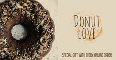 Brown and Beige Bakery Ad with Donut Dessert