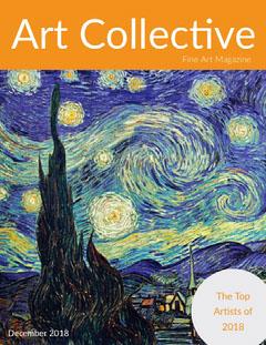 Orange and Blue Art Collective Magazine Cover Art