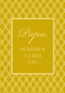 gold patterned Father's Day cards  Vatertagskarten
