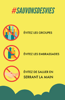 Yellow Save Lives Poster  Infographie