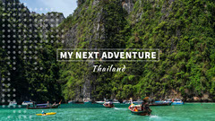 Thailand Asia Travel and Tourism Youtube Channel Art Banner Music Tour