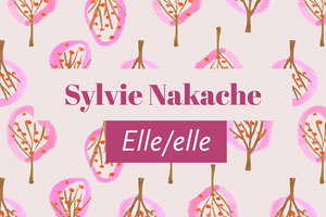 Pink Floral Pattern Pronouns Name Tag Carte de membre/visiteur