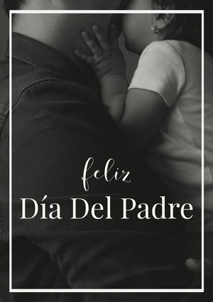 black and white photo Father's Day cards   Tarjeta electrónica