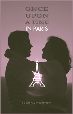 Violet With Silhouette Of Couple Poster France