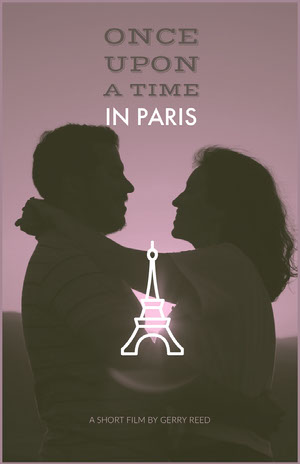 Violet With Silhouette Of Couple Poster Filmposter