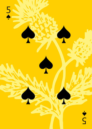Yellow Wildflower Playing Card Cartazes de jogos