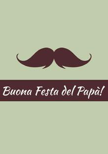 mustache Father's Day cards Biglietti elettronici per la festa del papà