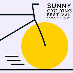 Yellow Bicycle Cycling Festival Instagram Squiare Bike