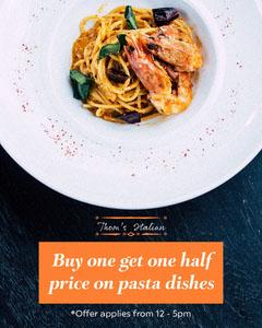 Orange Italian Half Price Promo Instagram Portrait Deal