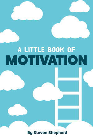 Blue & White Clouds Motivational Book Motivationsplakat