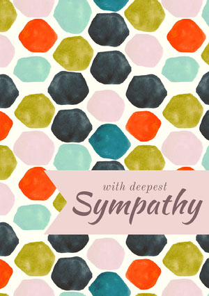 Multicolored Spotted Sympathy Card Sympatikort