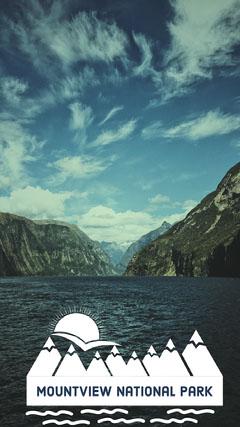 Mountains and Lake National Park Snapchat Story Lake