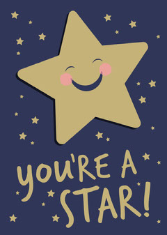 You're a Star Card Blue
