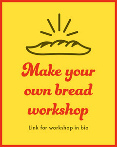 Yellow & Red Bread Workshop Instagram Portrait Workshop