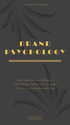 BRAND<BR>PSYCHOLOGY Social Media Flyer
